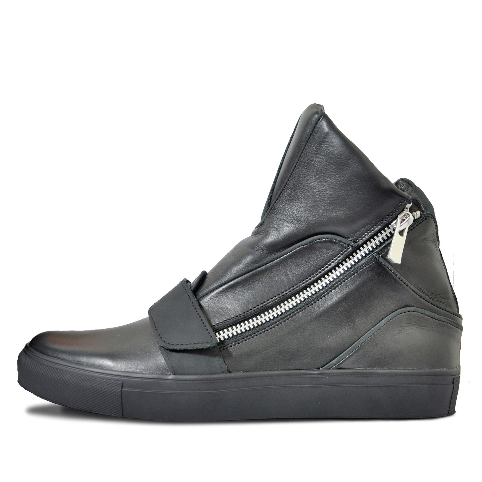Men's high-top sneakers with zipper