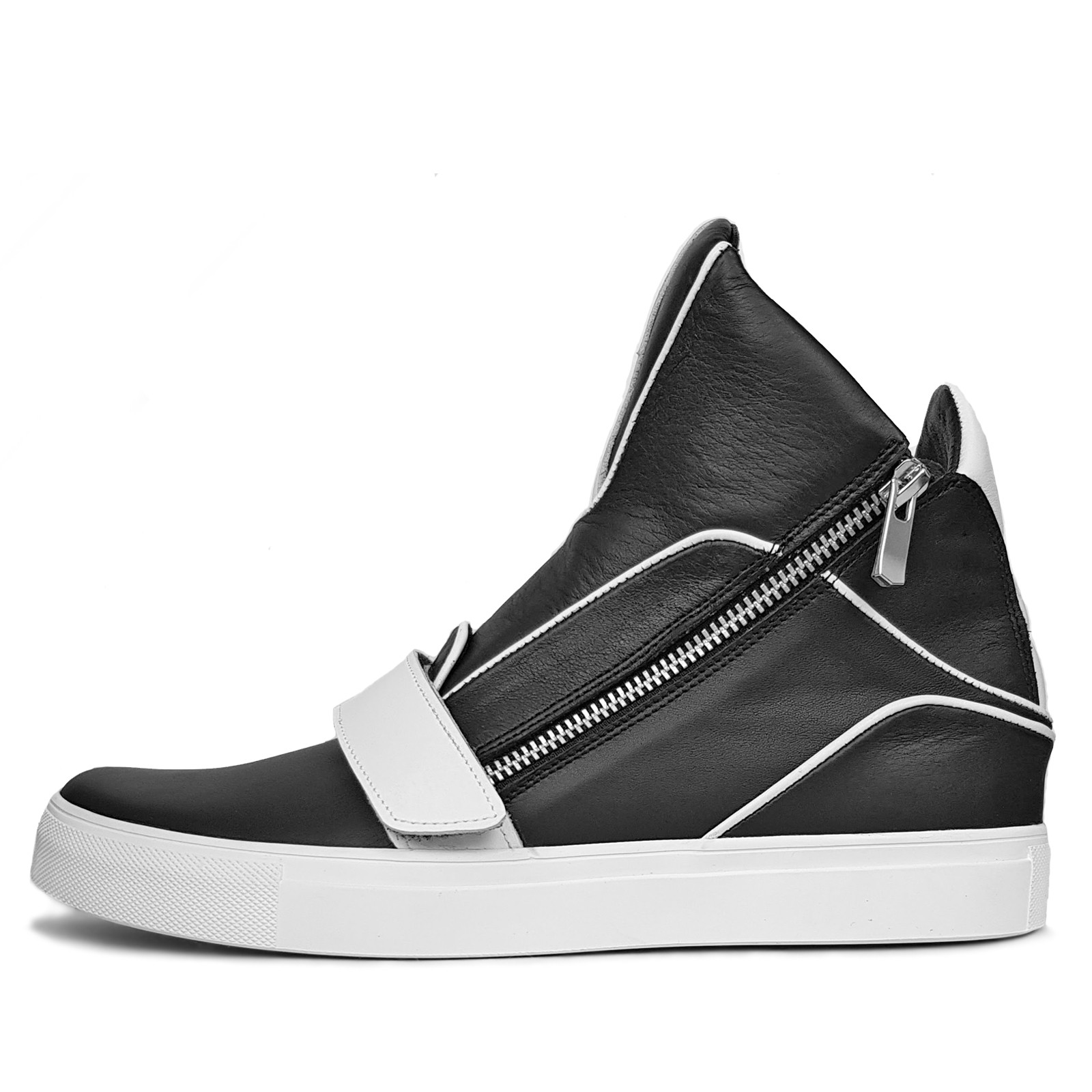 896a7b08dd8c Men's high-top sneakers with zipper - DYN WORLD