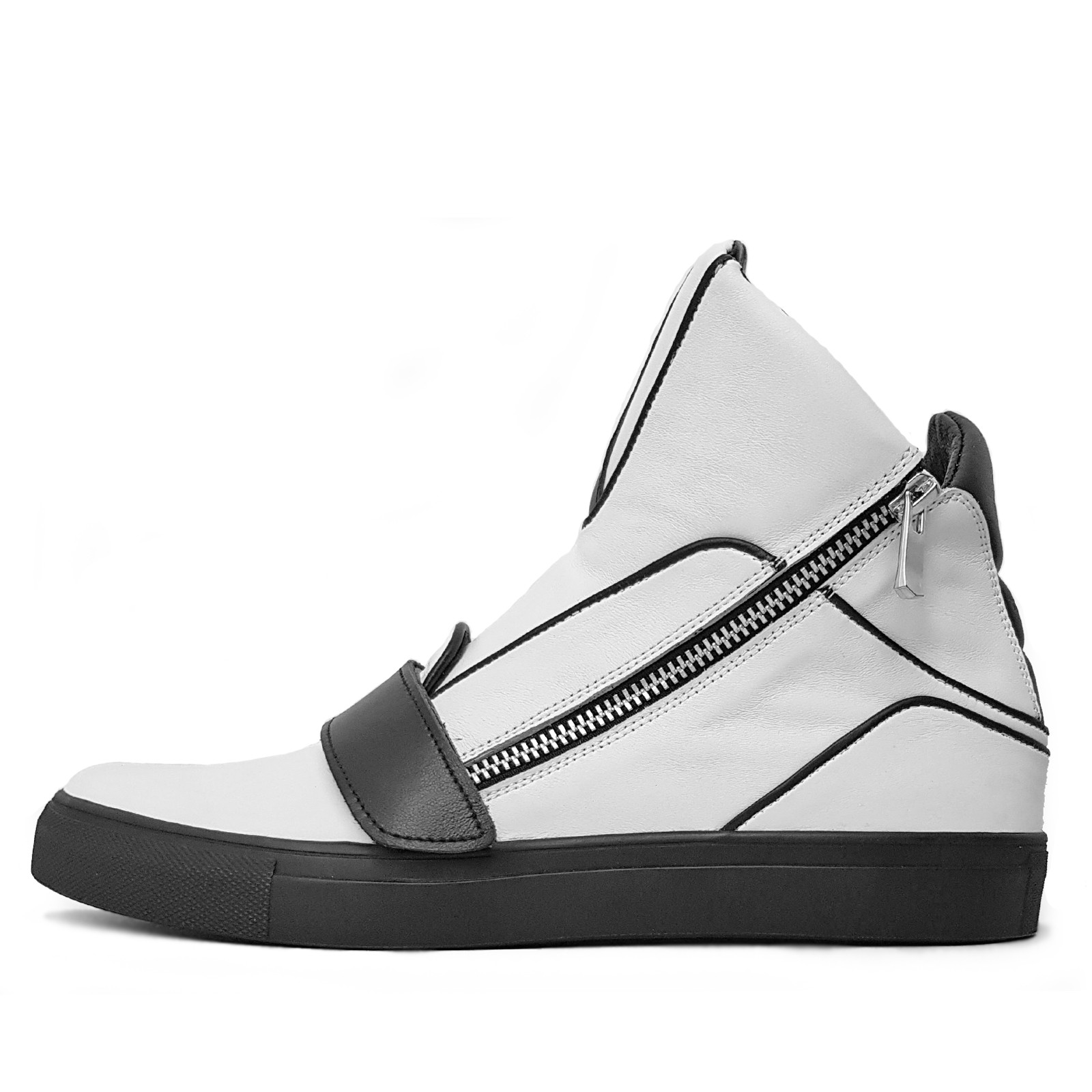 Men's high-top sneakers with zipper