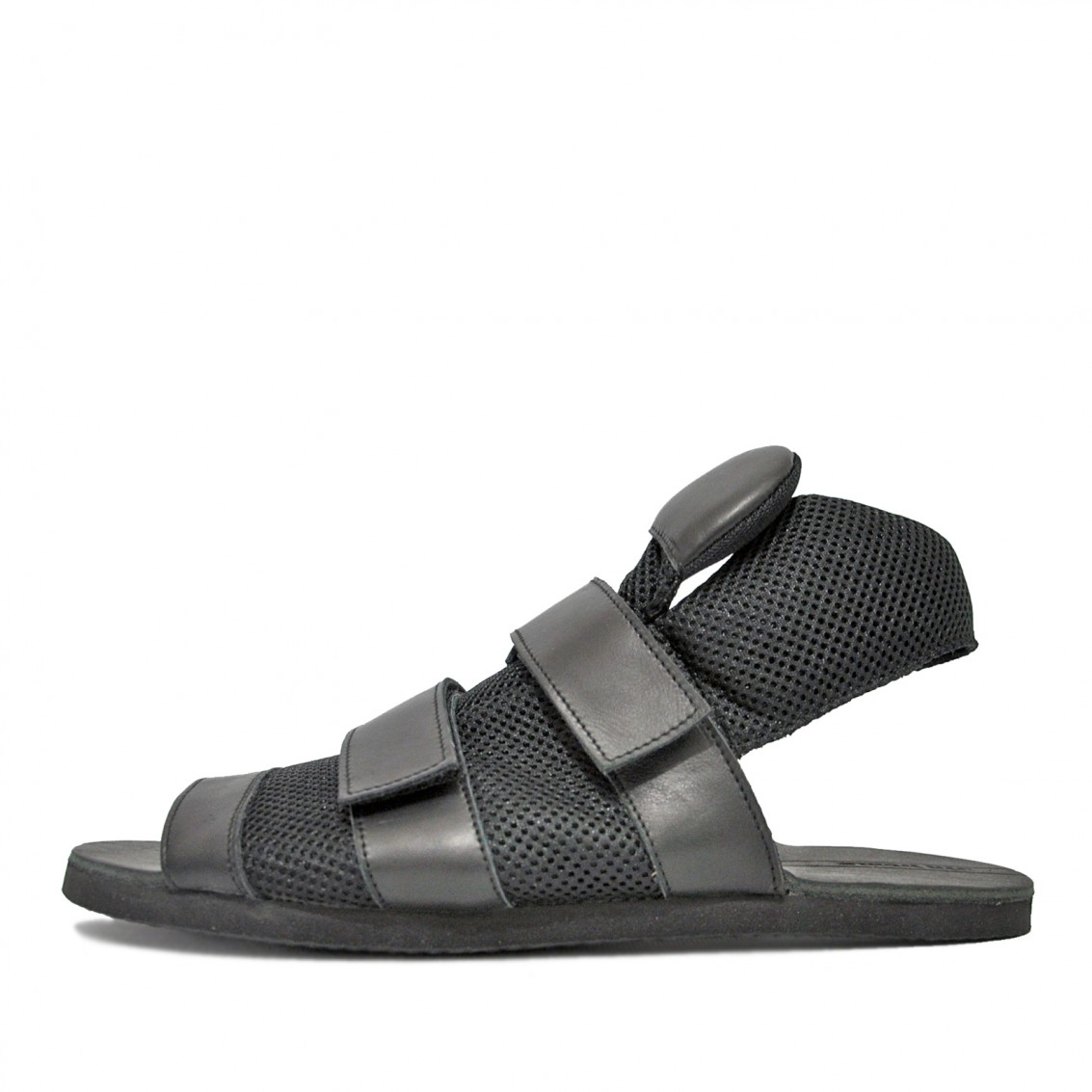 Men's asymmetric  sandals. Conceptual model.