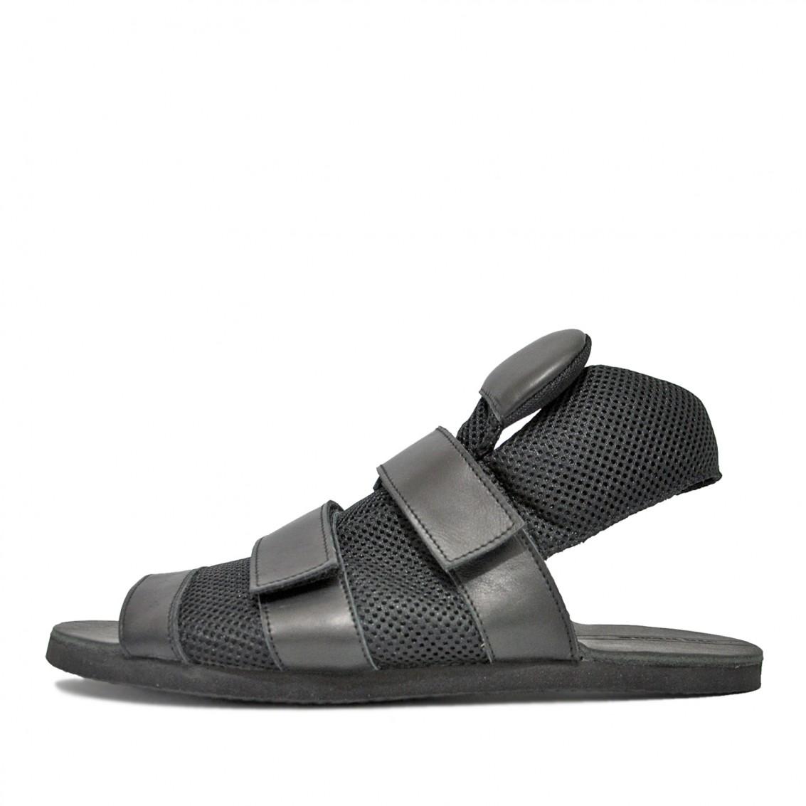 Men's asymmetric  sandals. Conceptual model.