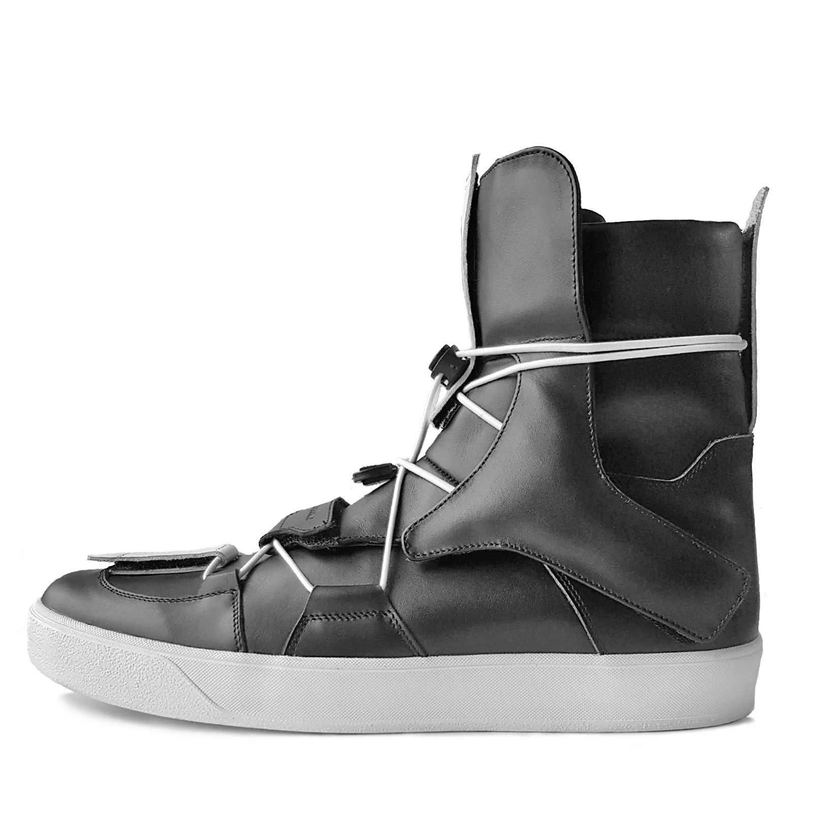 RDS CONSTRUCT SV. Replaceble details high-top sneakers.